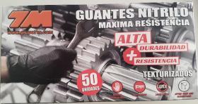 HIGENIZANTE 7712L50R - HIGIENE Y PROTECCION  7712L50R -GUANTE NITRILO TEXTURIZADO